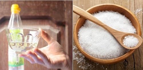 giấm ăn và muối